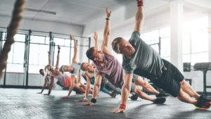 Group Exercise Side Plank